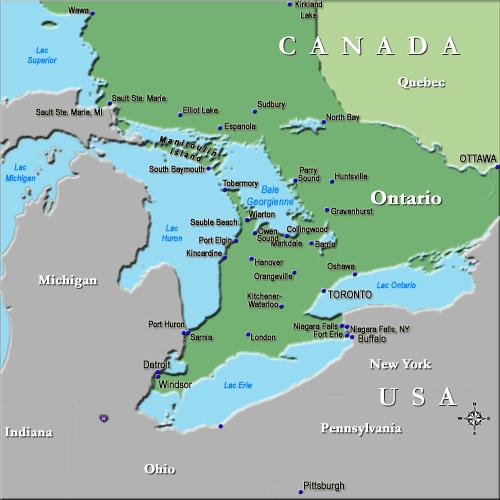 Baie Georgienne Map Baie Georgienne / Locate Georgian Bay | Places ✤ Ontario | Travel