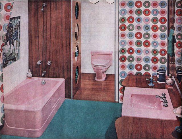 1960 American Standard Bathroom Advertisement Illustration Retro Bathrooms Mid Century Bathroom Vintage Bathrooms