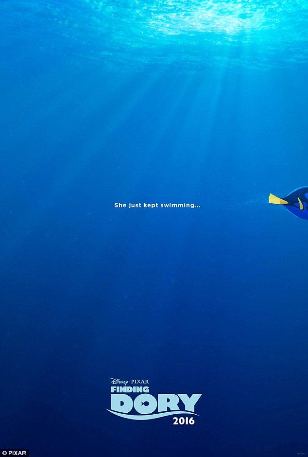 she just kept swimming finding dory unveils cute first poster