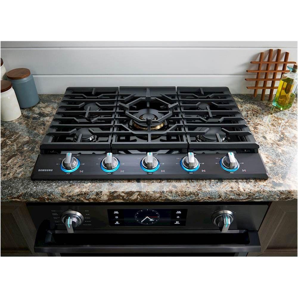 Best Buy Samsung 36 Gas Cooktop Fingerprint Resistant Black Stainless Steel Na36k7750tg Gas Cooktop Cooktop Samsung Black Stainless