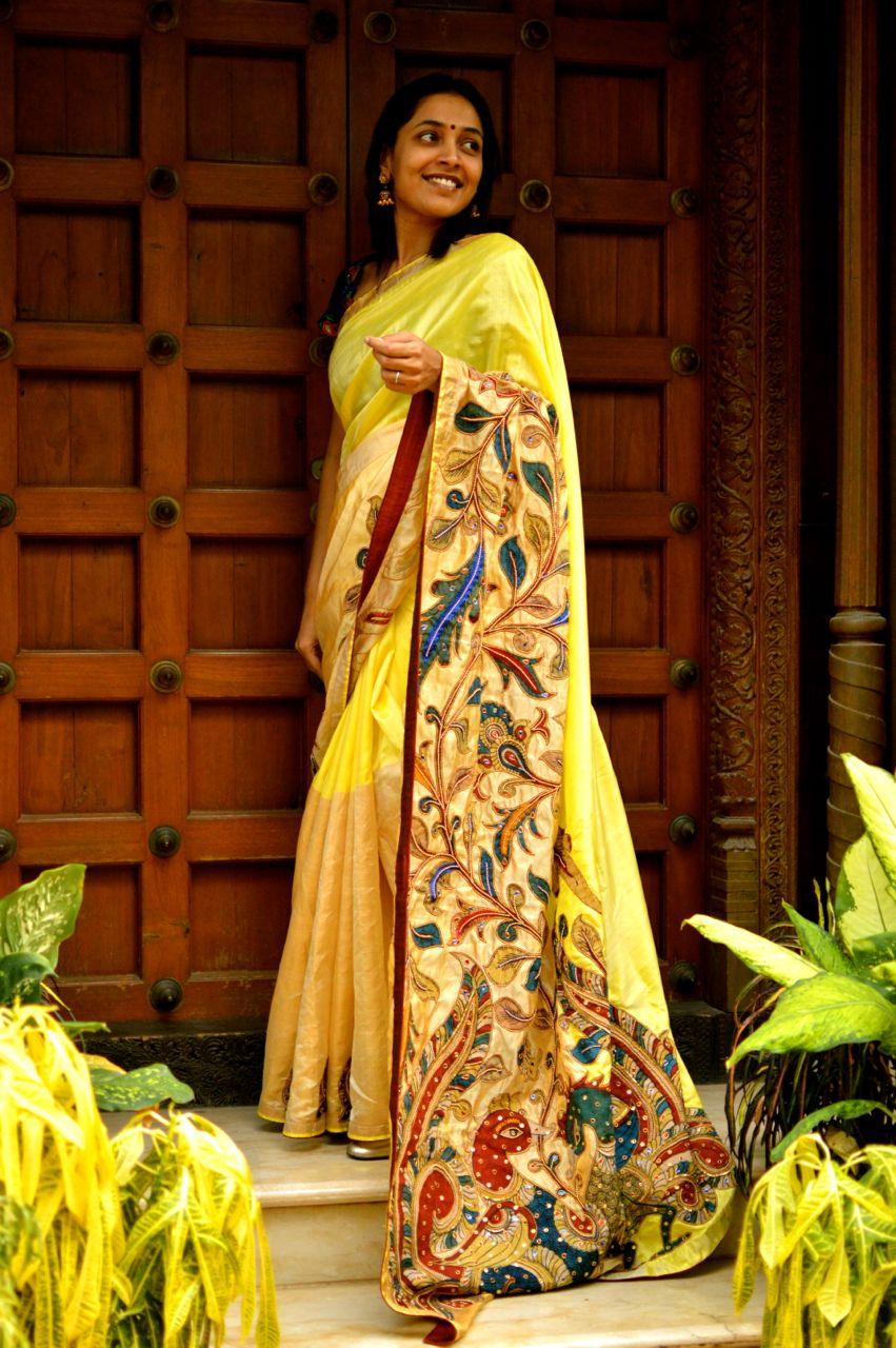 Uppada with Kalamkari Applique | Wardrobe For Women | Pinterest