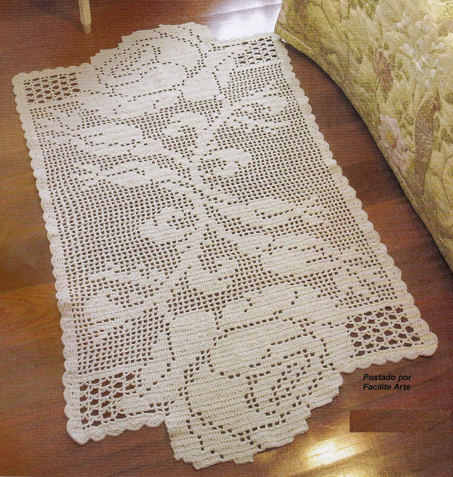 Mais um lindo tapete em croch fil barbante cr 4 6 e for Tapetes de crochet