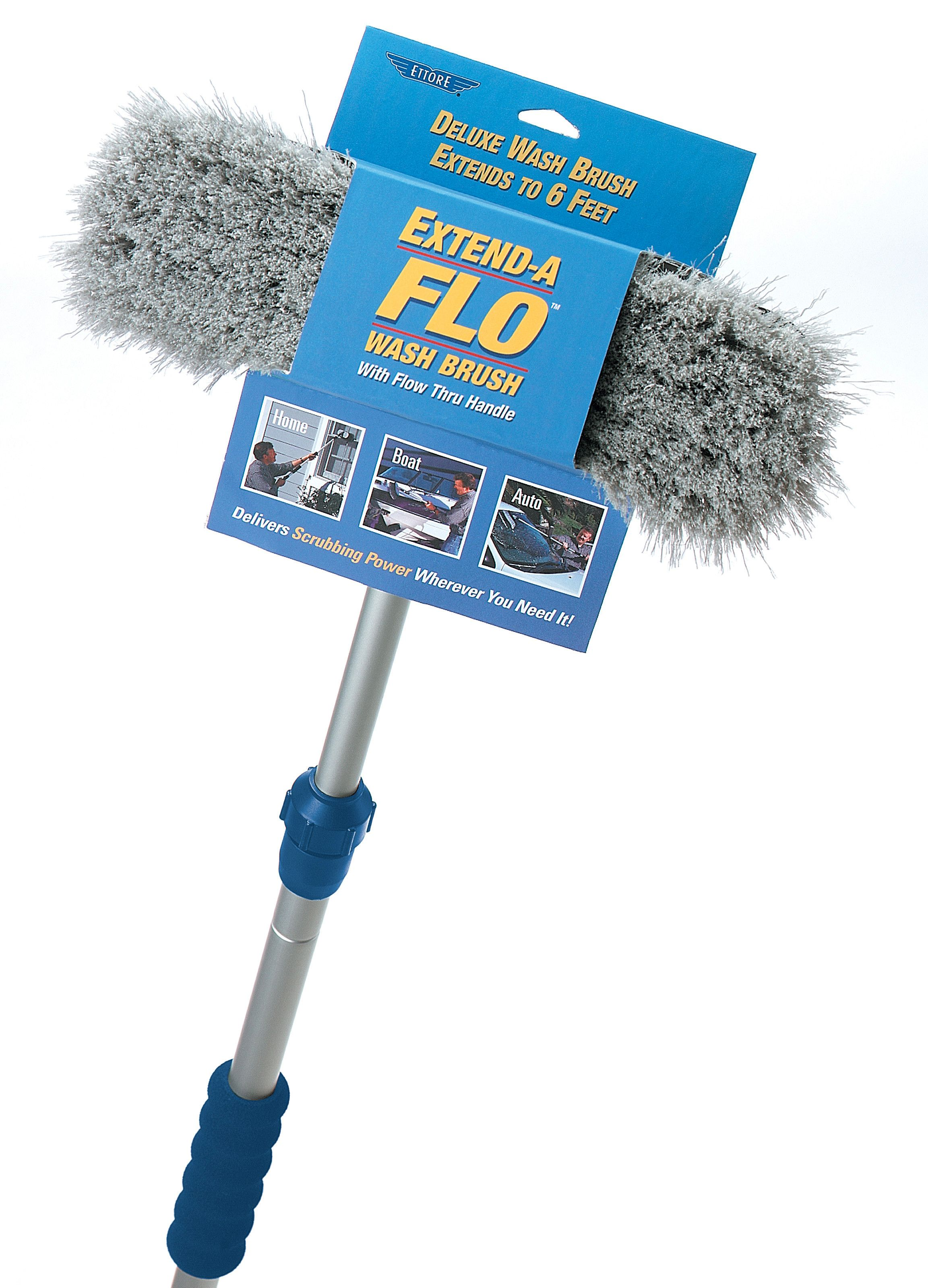 Ettore S Extend A Flo Wash Brush Handle Connects To A Variety Of