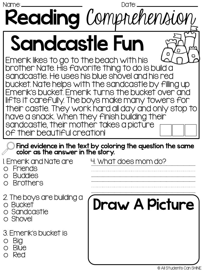 - Reading Resources {FREEBIE} (With Images) Reading Comprehension