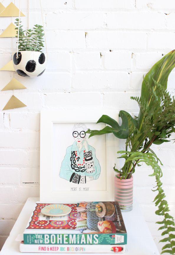 Iris Apfel Illustration, More Is More   Decoração   Cute ...
