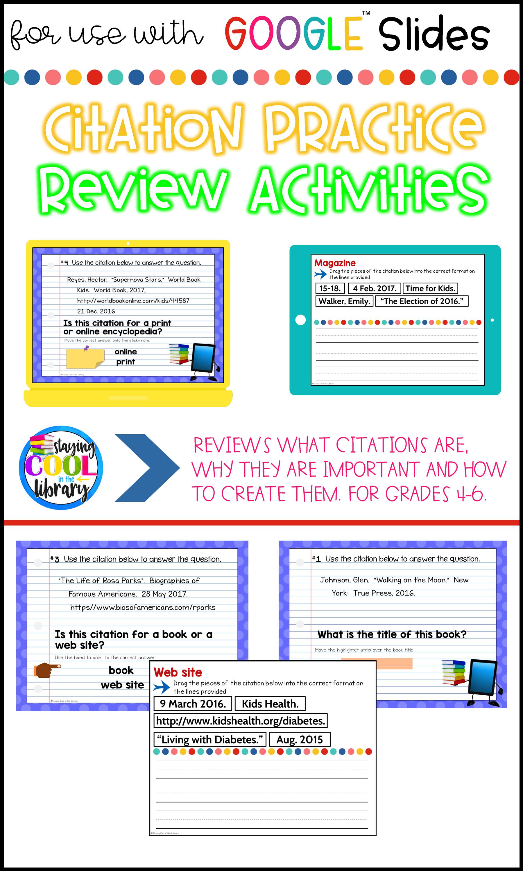 Citation Review Activities