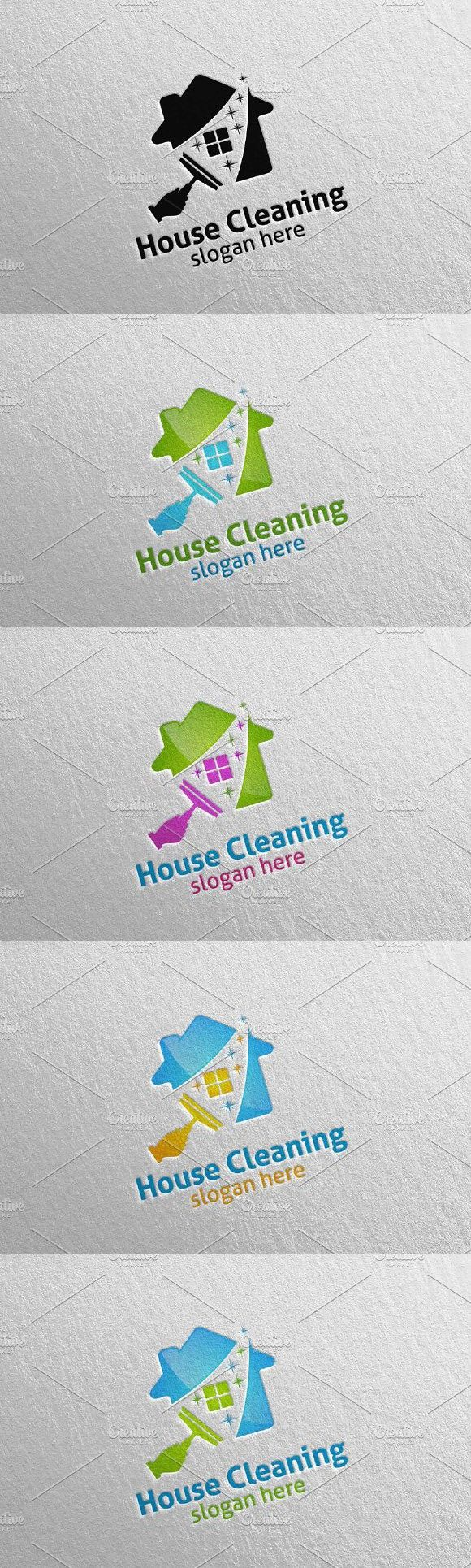 House cleaning services vector logo Vector logo, Clean
