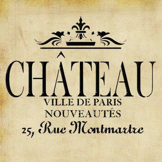 stencil, french, shabby chic,Chateau, furniture stencil, wall