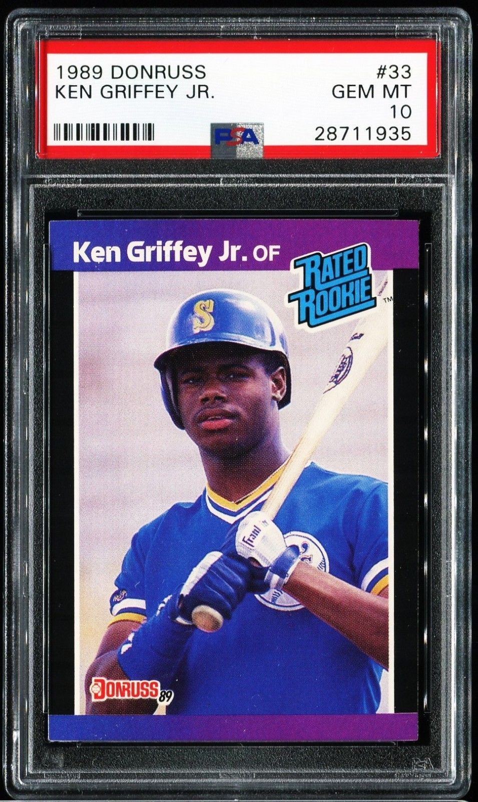 1989 donruss ken griffey jr 33 psa 10 psa10 griffey jr