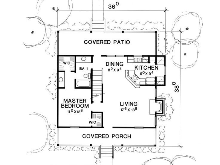 1st Floor Plan 1 1 2 Story House House Plans Cottage Style House Plans Cottage Style Homes