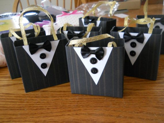 Good Wedding Party Gifts For Groomsmen: Tuxedo Party Favor Bags Great For Batchelor Parties By