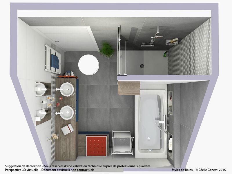 Agencement salle de bain de 2 à 5 m ² - comment maîtriser le petit
