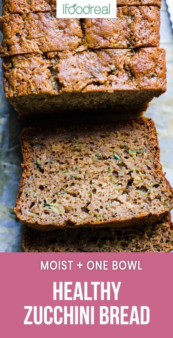 Healthy Zucchini Bread Recipe with applesauce whole wheat or spelt flour and ho