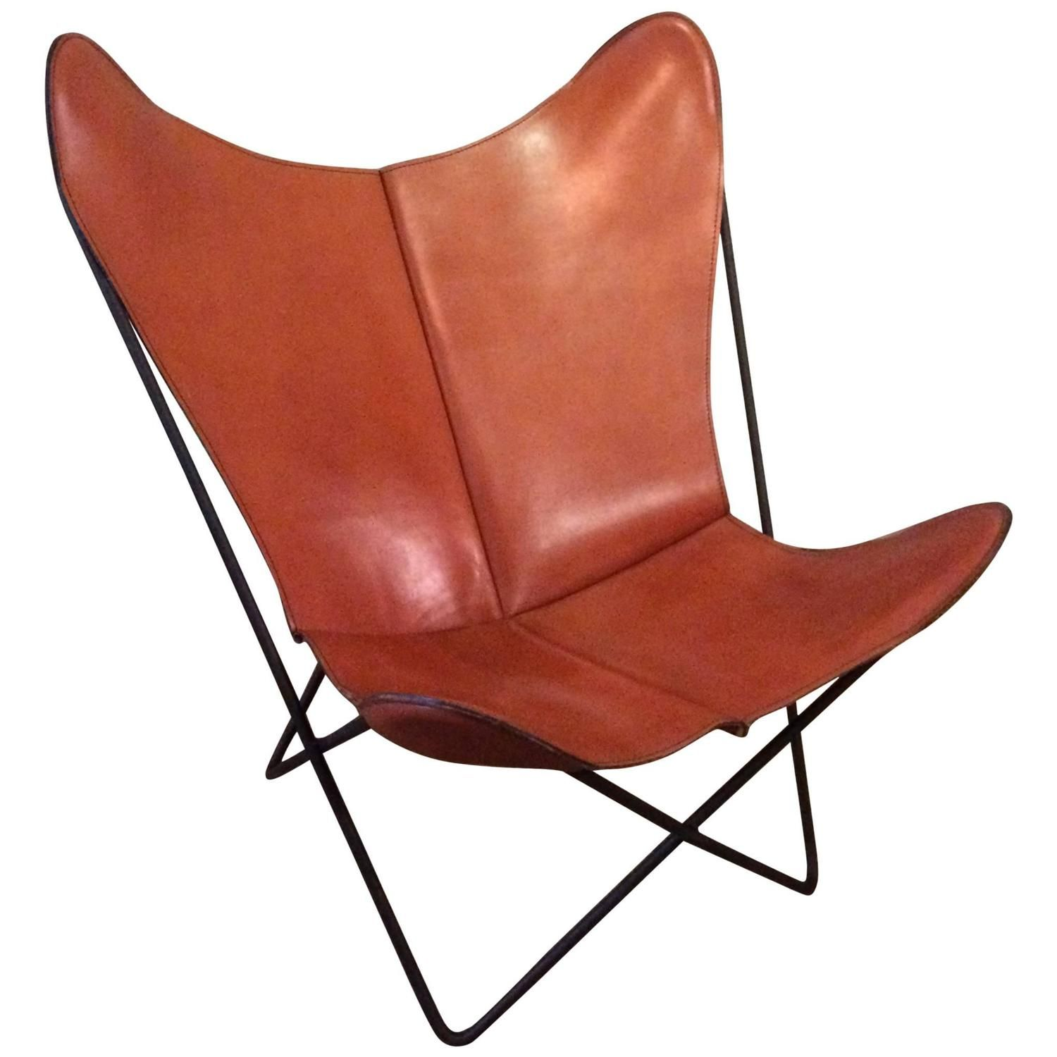 View This Item And Discover Similar Lounge Chairs For Sale At   Mid Century  Modern, Butterfly Chair Designed By Jorge Ferrari Hardoy For Knoll With  Wrought ...