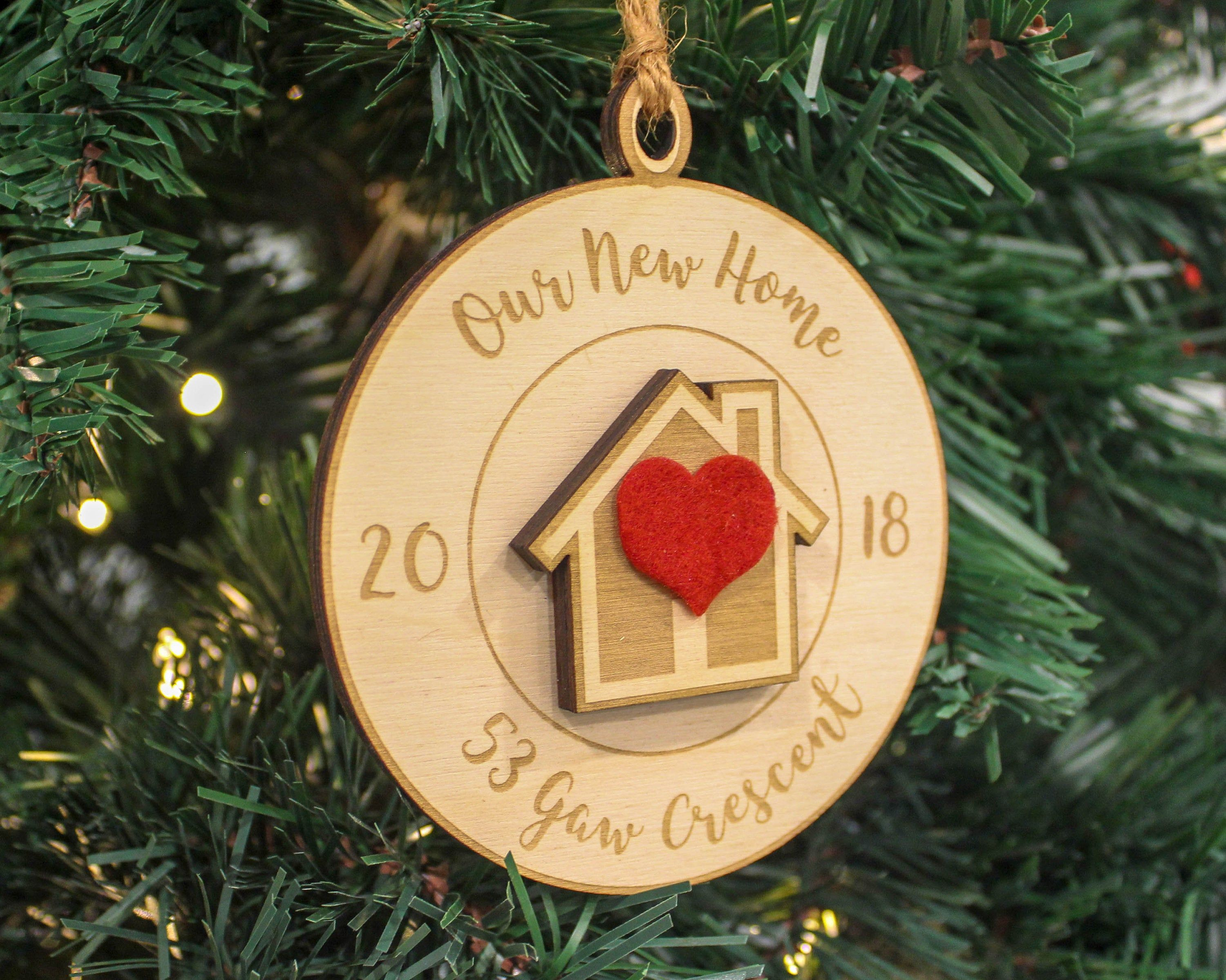 Our First Home Ornament, New Home Owner Gift, Realtor