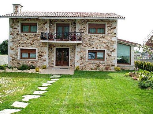Chalets Pequeñas Casas Rusticas de Campo Fachadas de piedra