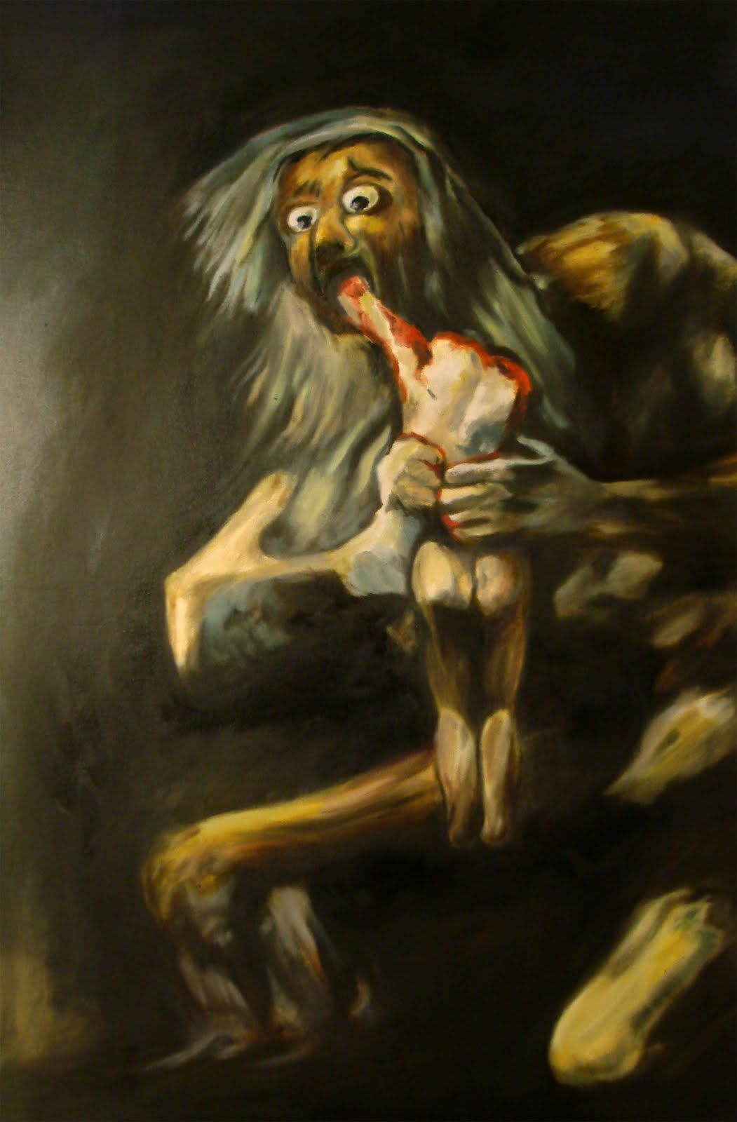 This Awesome Painting Is Called Saturn Devouring His Son By Goya