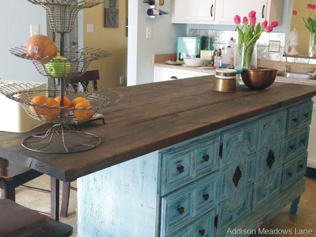 Diy Sunday Showcase Party And Features Dresser In Kitchendresser Kitchen Islanddresser