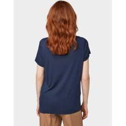Tom Tailor Denim Damen Jersey T-Shirt, blau, unifarben, Gr.xs Tom TailorTom Tailor