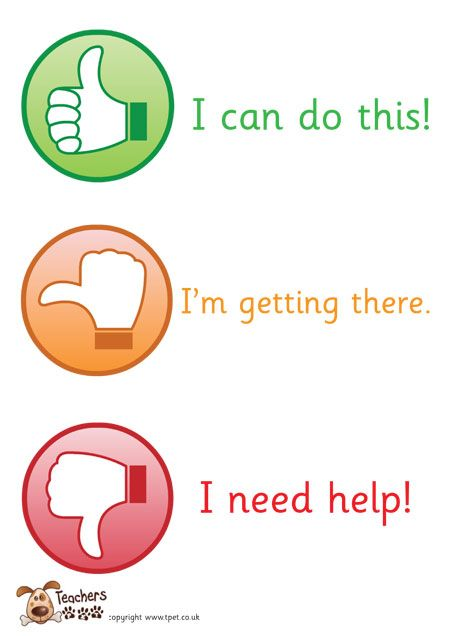Teacher'S Pet Displays » Thumbs Up Assessment Poster » Free
