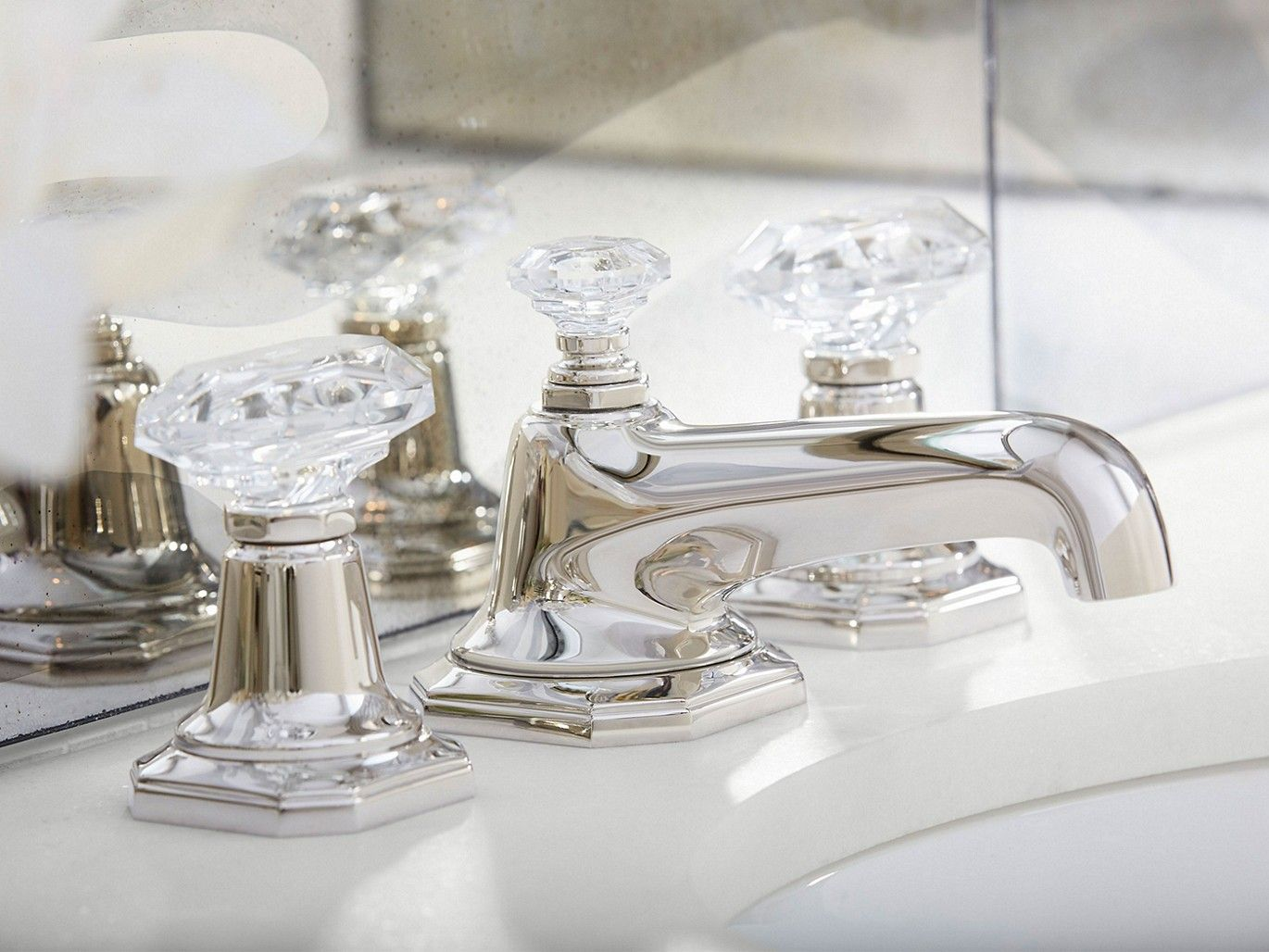 Sink Faucet Clear Crystal Handles Sink Faucets Faucet Sink