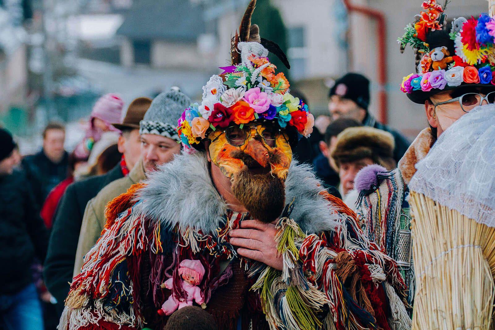 Masopust procession in Vortova. #czechrepublic #carnival #festival #czech#tradition #craft #design #costume #mask #celebrate #culture #travel #world #travelling