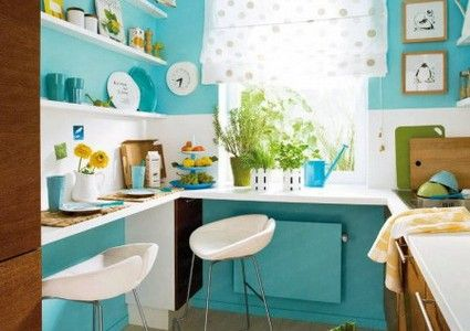 idee couleur cuisine turquoise