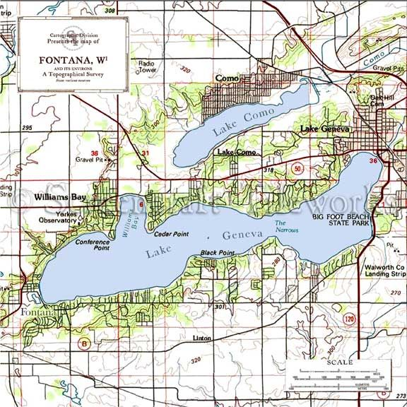 Map of the Day August 29Hydrographic Map of Lake Geneva