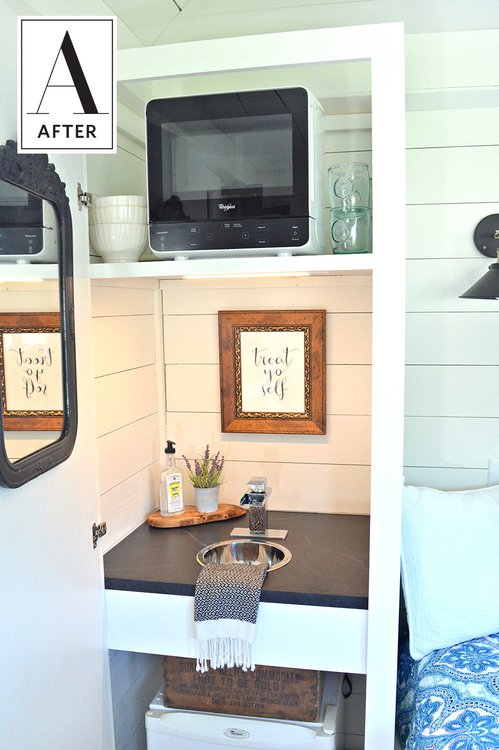 Before & After: From an Outdated Hot Tub Shed to Chic Bedroom Escape images