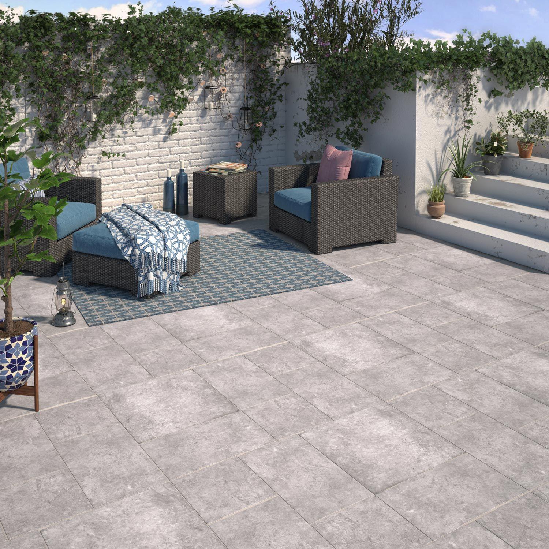 Carrelage Sol Gris Effet Pierre Monastere L 30 X L 30 Cm Avec Images Sol Exterieur Carrelage Sol Exterieur