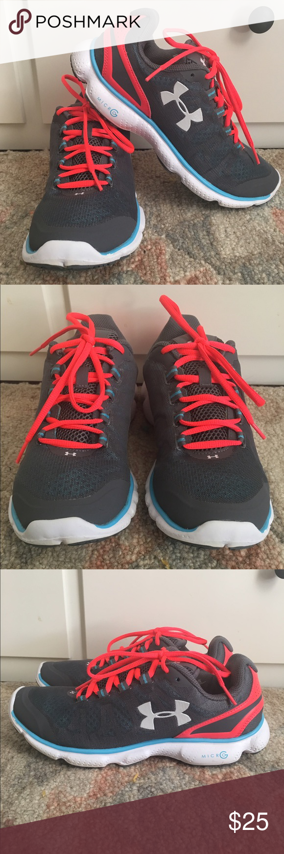 Under Armour Micro G Attack Running Shoe Under Armour running shoes. Good condition. Under Armour Shoes Sneakers