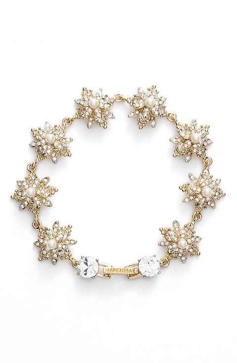 Marchesa Crystal Faux Pearl Bracelet