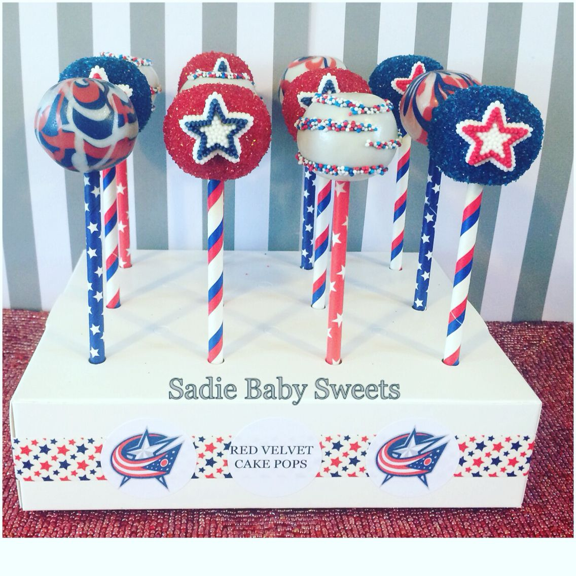 NHL Columbus Blue Jackets Cake Pops Game Day Sweets Pinterest