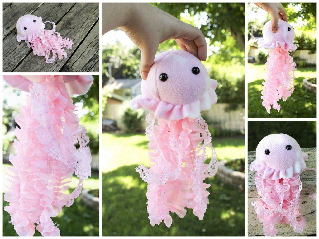 Pink Jellyfish Plushie by BeeZee-Art on DeviantArt   art   Pinterest