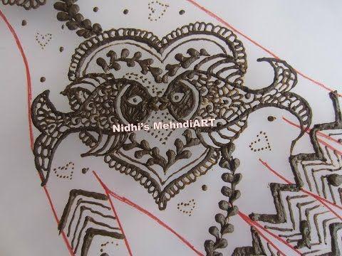 Youtube Valentines Day Special Henna Mehndi Design Unique
