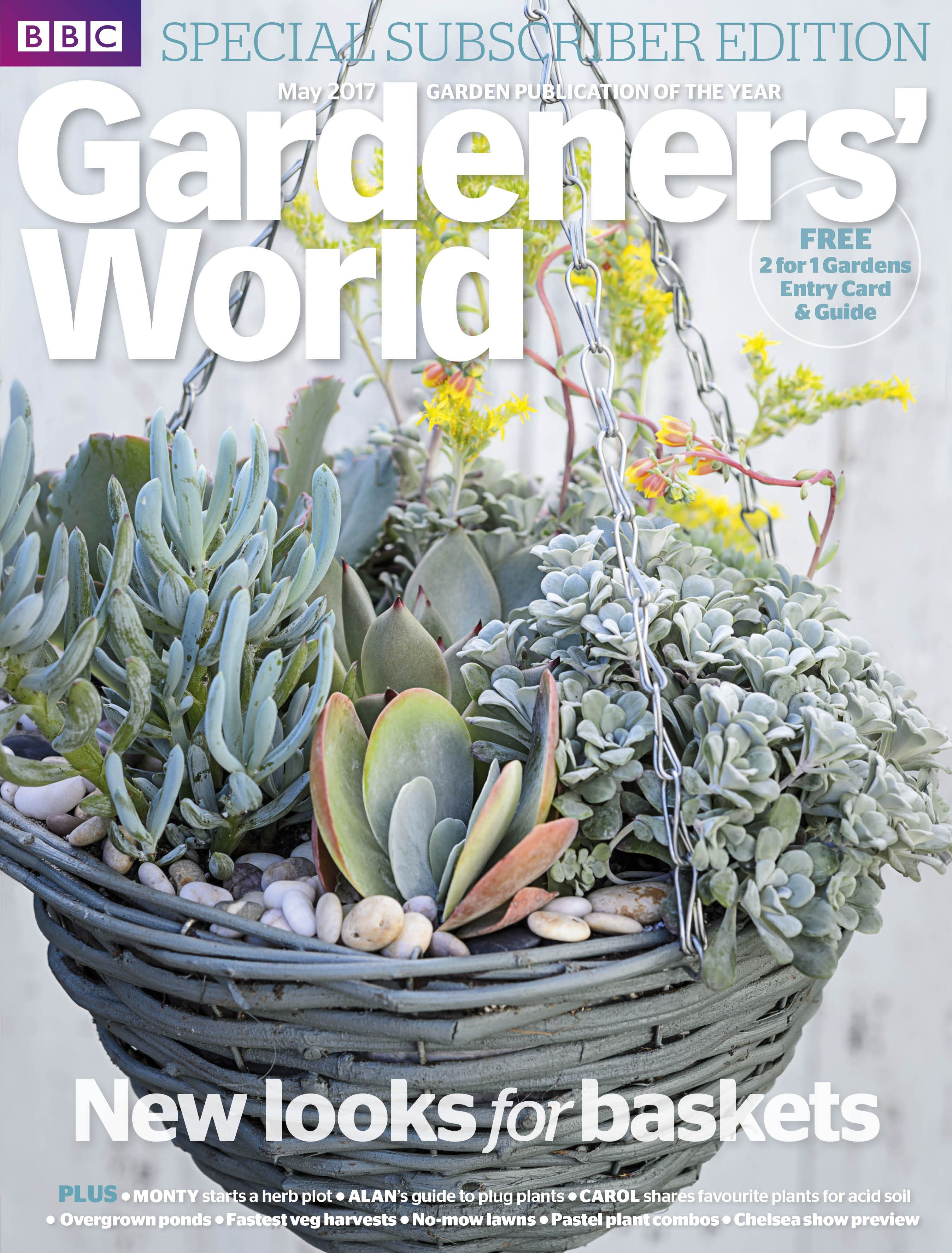 MAY 2017 SUBSCRIBER EDITION Hanging baskets with succulents. Photo ...