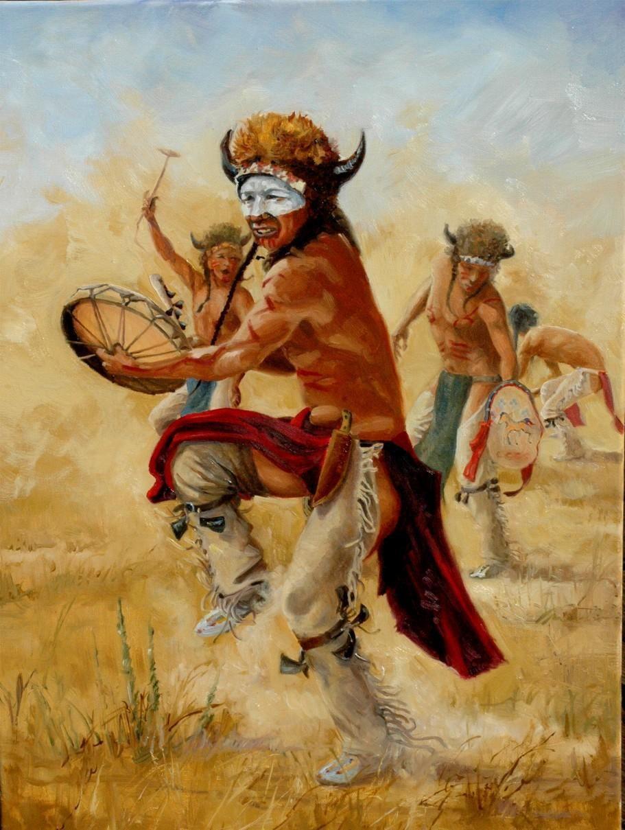 Calling the buffalo 18 x24 oil on canvas outstanding - Fogli da colorare nativo americano ...