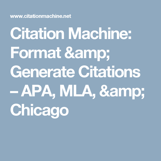 chicago formatting generator Citation guide our citation guide will assist you in mla, apa, and chicago style formatting even though workscited4u automatically formats bibliographies, it's still important for students and researchers to learn how to cite sources manually.