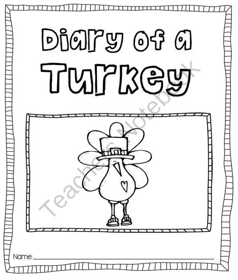 Diary of a Turkey (Journal Printable) from Pioneer Teacher