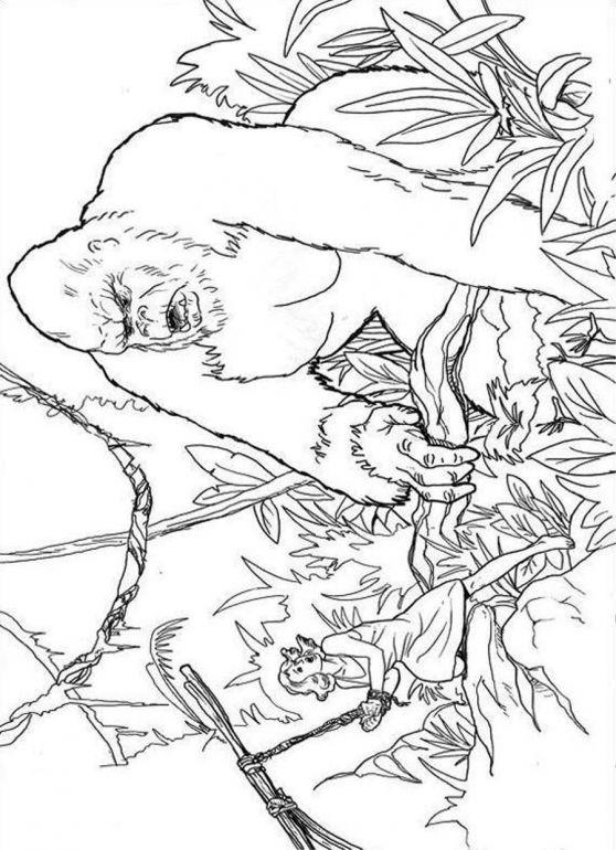 King Kong Coloring Pages Print