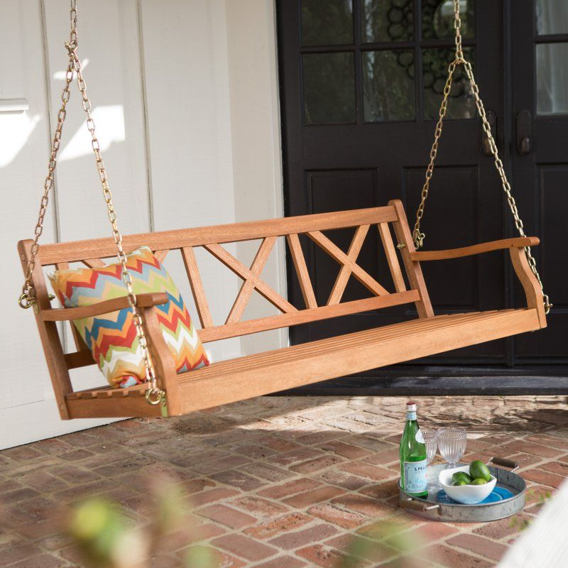 Wood Porch Swing Natural VFS GO28HD