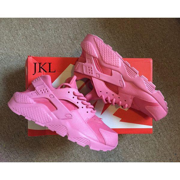 nike huarache pink and grey