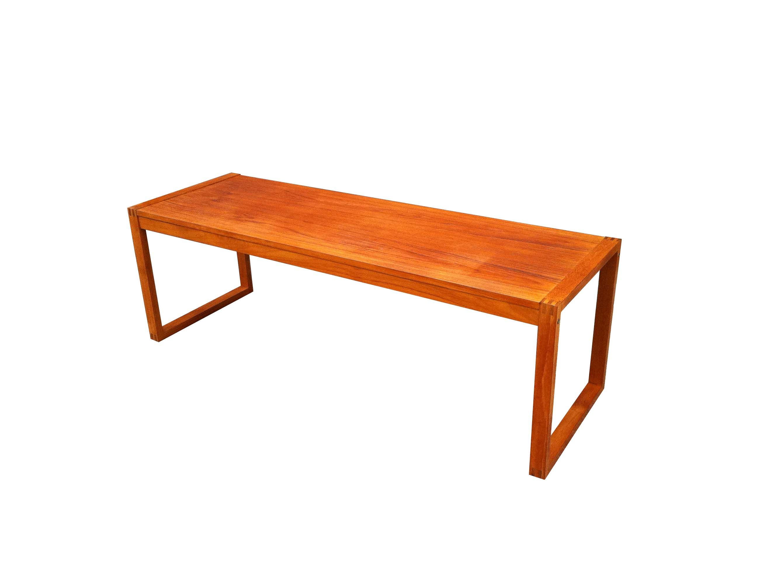 Teak coffee table with visible finger joints. | Muebles | Pinterest