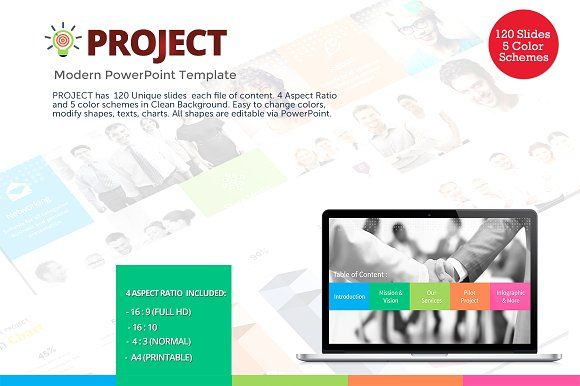 project - modern powerpoint templateflyer king on, Powerpoint templates