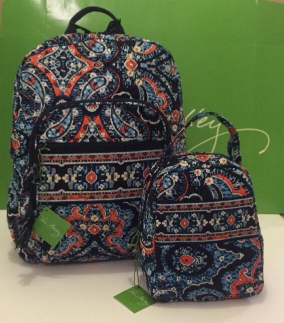 f4f313539ba5 NWT Vera Bradley Large Campus Backpack With Lunch Box Bunch In Marrakesh   VeraBradley  Backpack