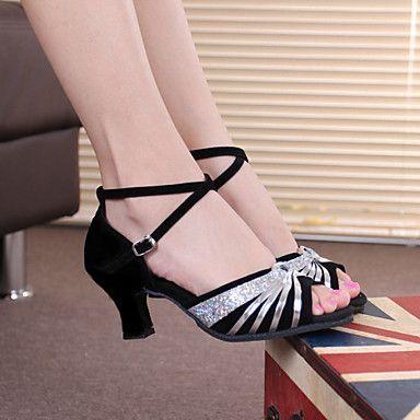 Zapatos negros Tacón cubano para mujer 5ZCKL0h7p8