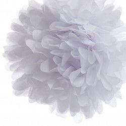 Tissue Paper Pom Pom Kit - White