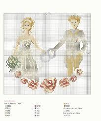 Risultati immagini per sacchetti bomboniere punto croce schemi wedding