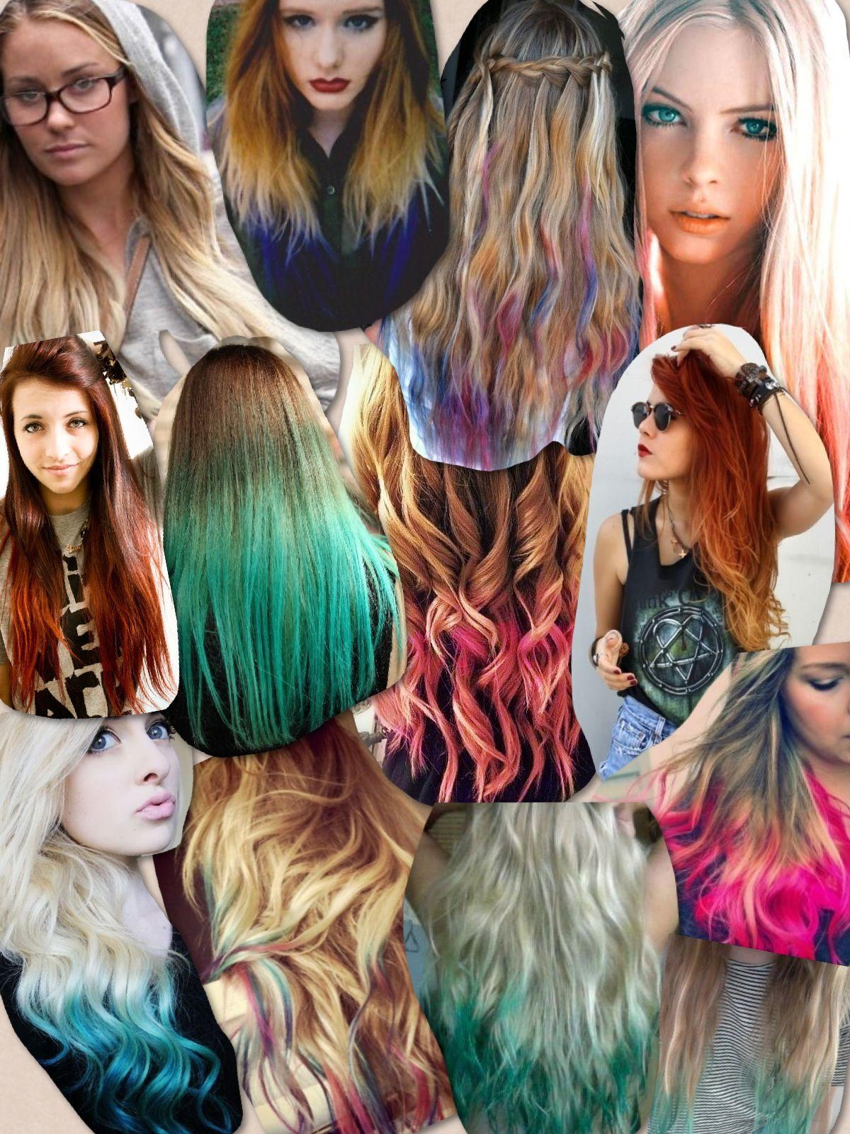 Dip dyed hair collage Gettin my hair did Pinterest