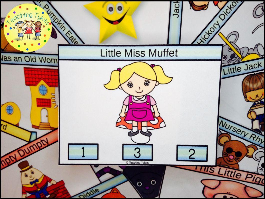 Little Miss Muffet Task Cards